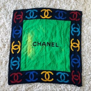 Large Colorful Silk Chanel Scarf